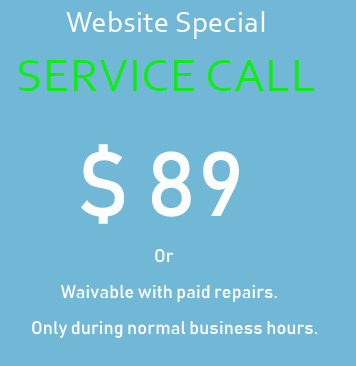 website special HVAC service call